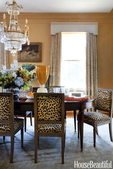 Melissa Rufty Orange Dining Room