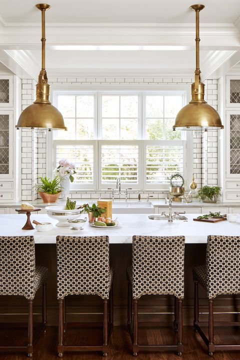 classic white kitchen. Nathan Kirkman. Patterned Cabinets