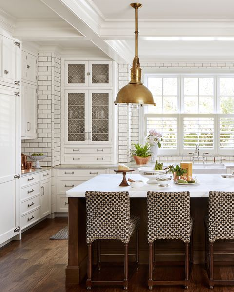 Image Nathan Kirkman Patterned Cabinets A Clic White Kitchen