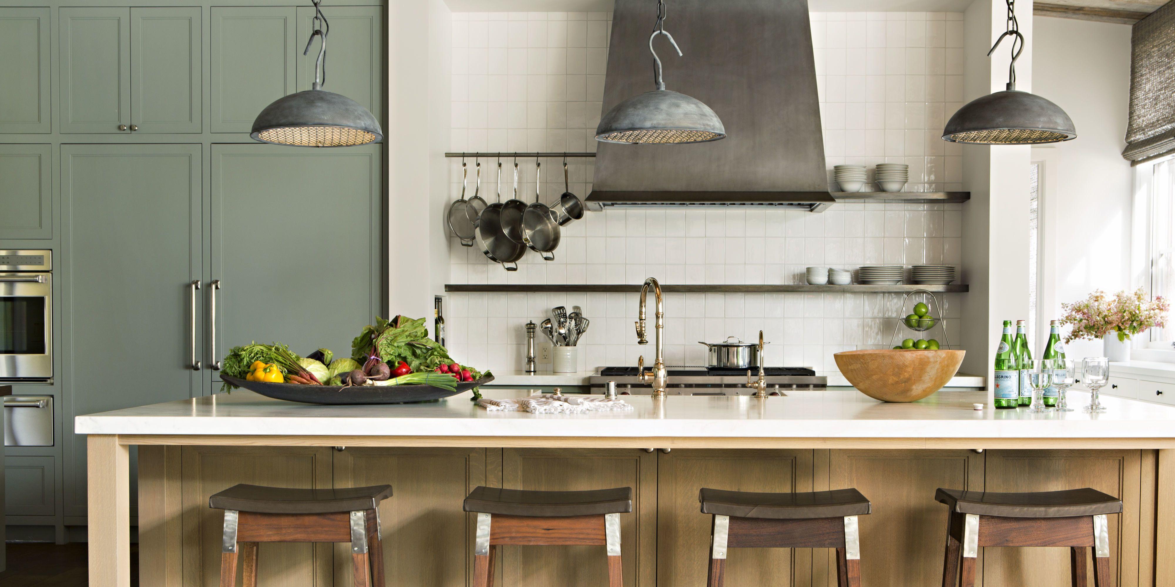 20 best kitchen lighting ideas modern light fixtures for home rh housebeautiful com kitchen island lighting fixtures ideas Kitchen Lighting Design Ideas