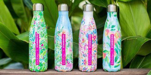 Lilly Pulitzer Starbucks water bottles
