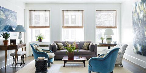 Markham Roberts Blue Living Room