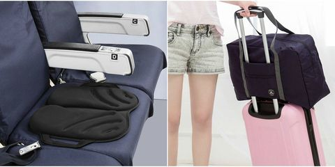Bag, Hand luggage, Product, Shoulder, Leg, Car seat, Baggage, Fashion accessory, Pocket, Luggage and bags,