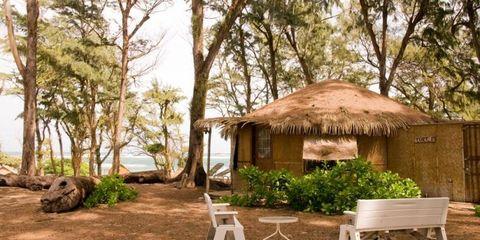yurt on beach