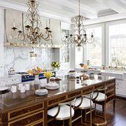 formal white kitchen