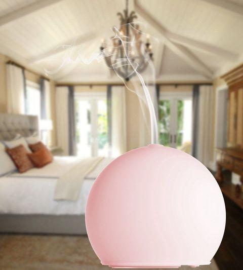 Lighting, Ceiling, Light fixture, Room, Pink, Lamp, Furniture, Interior design, Table, Floor,