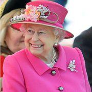 Pink, Hat, Headgear, Food, Fashion accessory, Costume hat, Cuisine, Cake, Dessert, Flower,