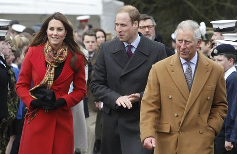 Kate Middleton, Prince William and Prince Charles