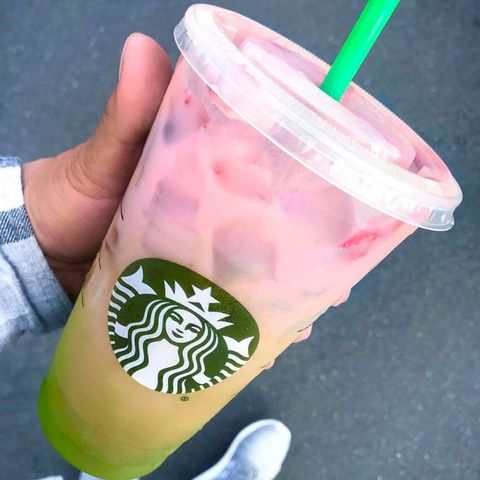 "<p>What's better&nbsp;than a pink drink? A drink that's pink and incorporates yet another springy pastel. The <a href=""http://www.redbookmag.com/food-recipes/news/a48813/starbucks-secret-matcha-pink-drink/ "" target=""_blank"" data-tracking-id=""recirc-text-link"">Matcha Pink Drink</a>&nbsp;is a two-toned ombré drink made from the Pink Drink (the Strawberry Acai Refresher with coconut milk) and poured on top of matcha with coconut milk. Though it sounds simple, it's one that baristas can have a little bit of&nbsp;difficult with, resulting in some <a href=""http://www.redbookmag.com/food-recipes/a48832/starbucks-matcha-pink-drink-fail/ "" target=""_blank"" data-tracking-id=""recirc-text-link"">pretty hilarious fails</a>.</p>"