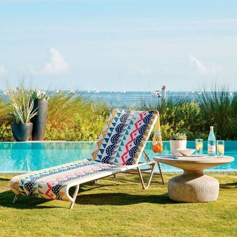Outdoor furniture, Furniture, Chaise longue, Sunlounger, Leisure, Turquoise, Summer, Couch, Grass, Chair,
