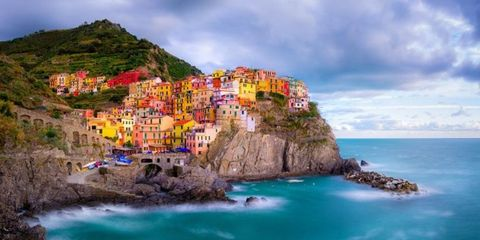 colorful beach towns