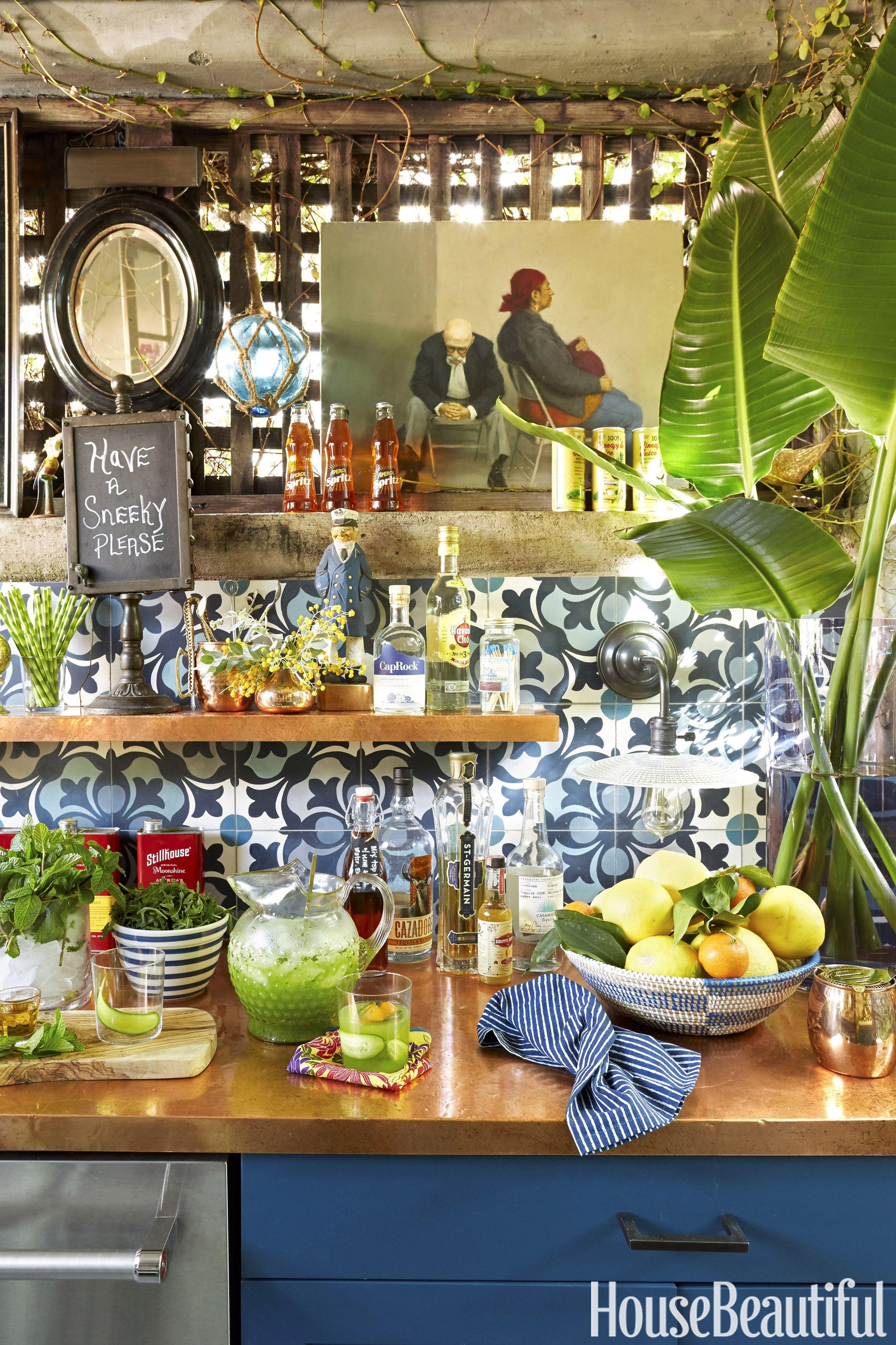 outdoor kitchen in west hollywood lulu powers u0027 backyard bar