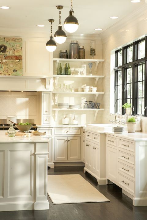 Countertop, White, Furniture, Cabinetry, Room, Kitchen, Interior design, Property, Floor, Shelf,