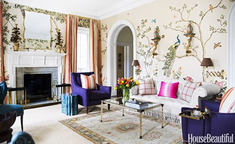 floral living room by celerie kemble and lindsey herod