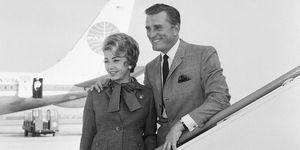 Kirk and Anne Douglas disembark Pan Am jet