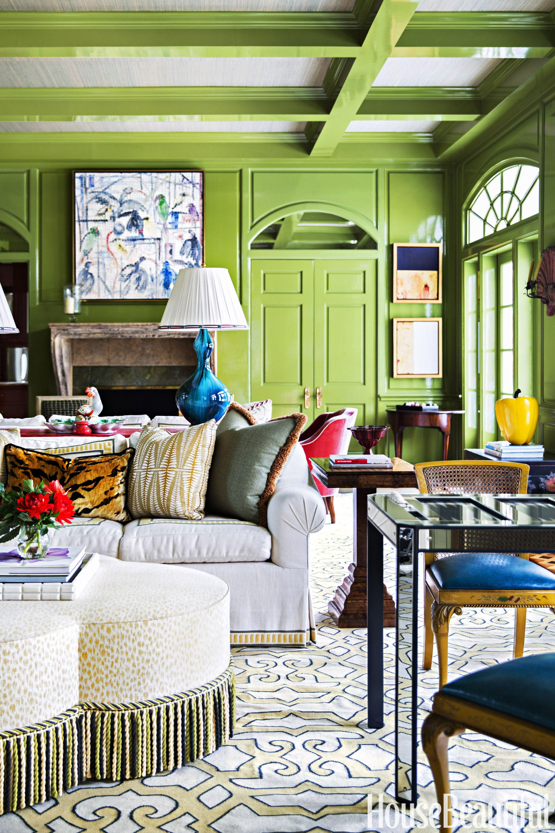 10+ Gorgeous Green Living Rooms