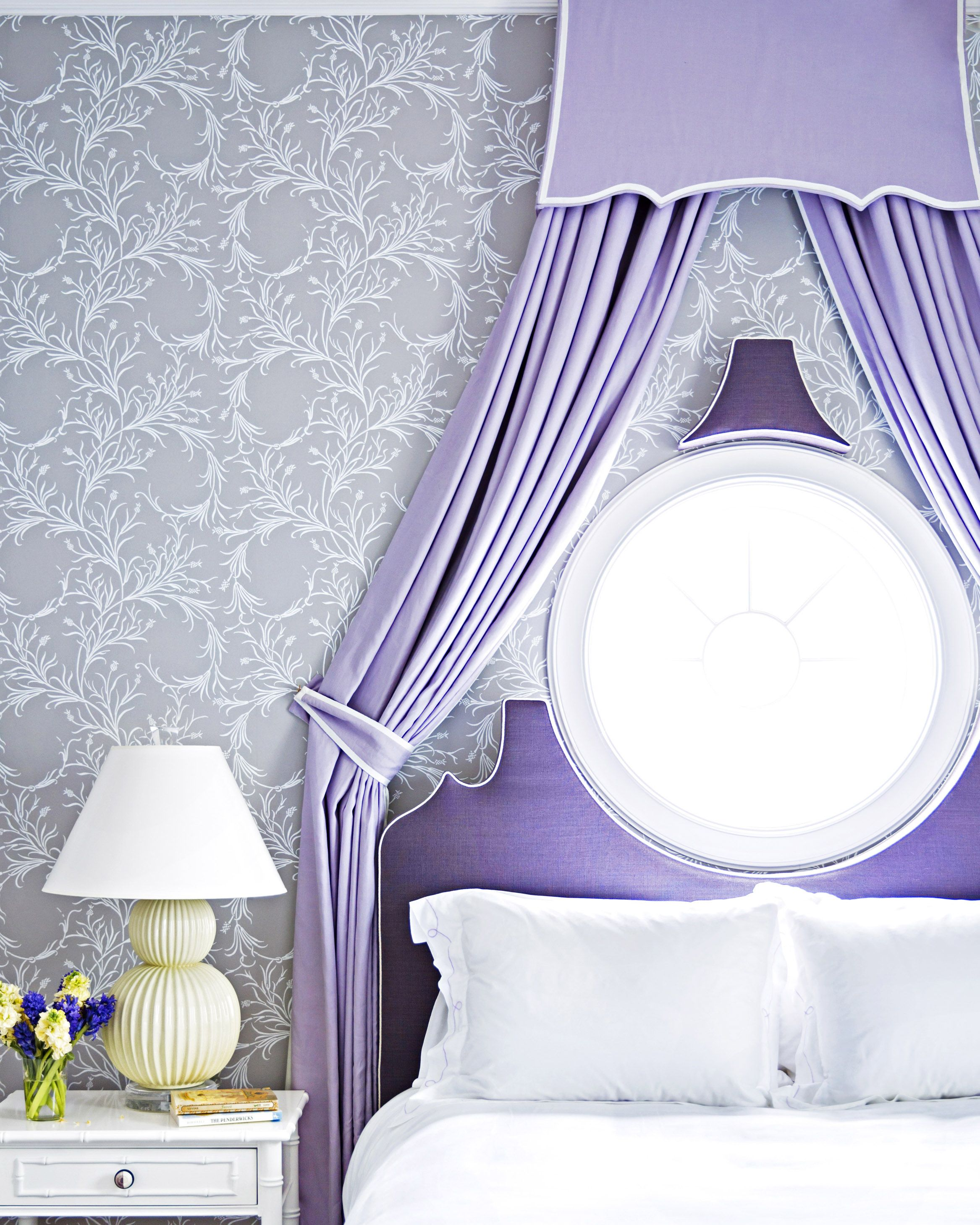 purple bedroom by celerie kemble and lindsey herod