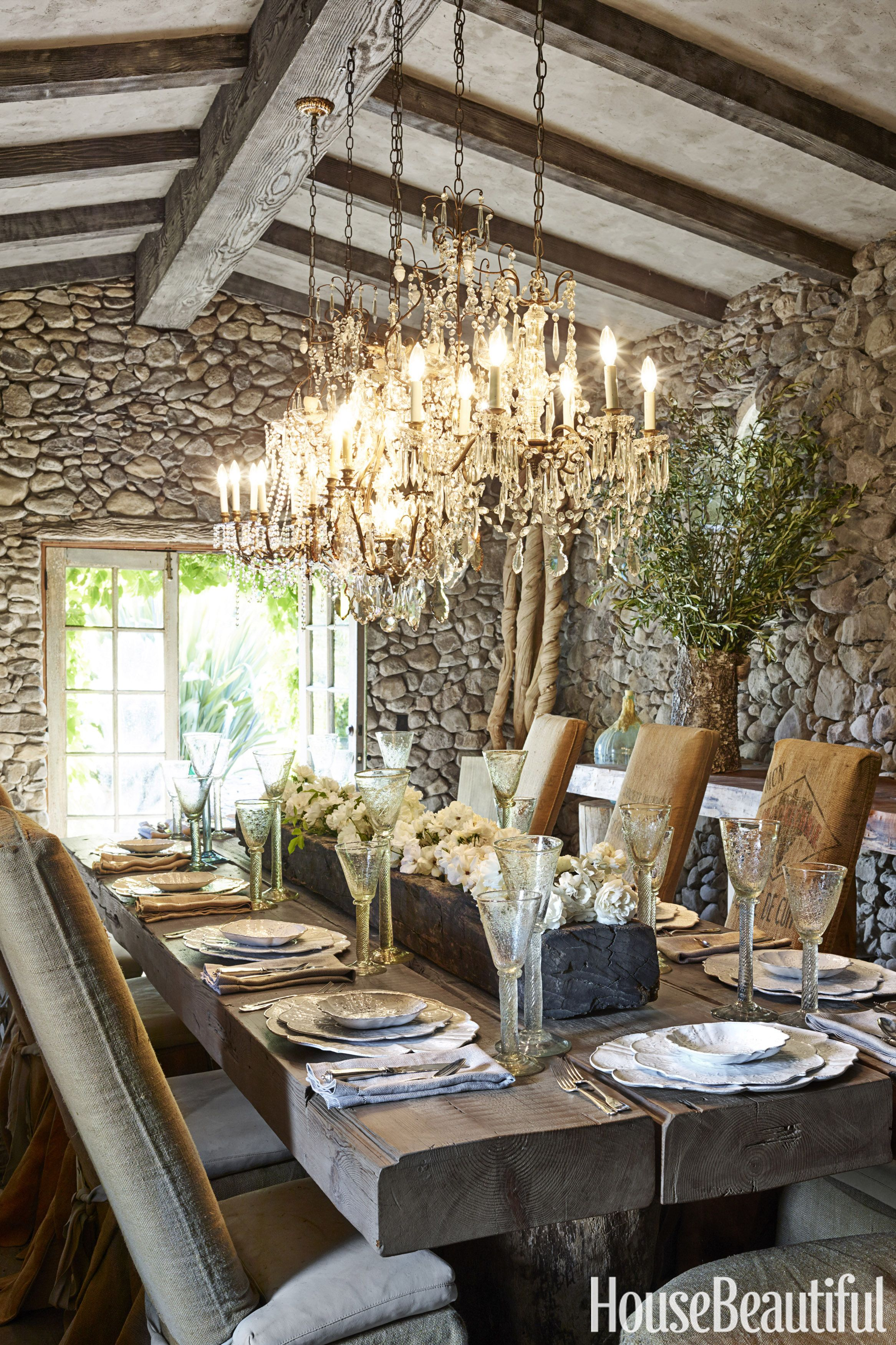 stone dining room by wendy owen