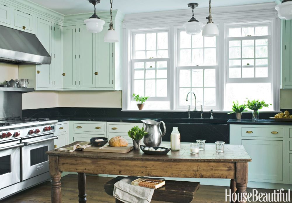 mint green kitchen & 30 Best Kitchen Paint Colors - Ideas for Popular Kitchen Colors