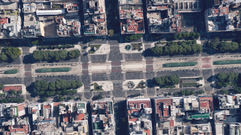 "<p>With a 50-year construction timeline, the 9 de Julio Avenue's 12 lanes of traffic and manicured medians opened as the world's widest street in the 1980s. For tourists interested in Buenos Aire's landmarks such as the Obelisk, the Teatro Colon or the statue of Don Quixote, they'll have plenty of time as it takes three green lights to cross the 300-foot wide street.  <span class=""redactor-invisible-space"" data-verified=""redactor"" data-redactor-tag=""span"" data-redactor-class=""redactor-invisible-space""></span></p>"