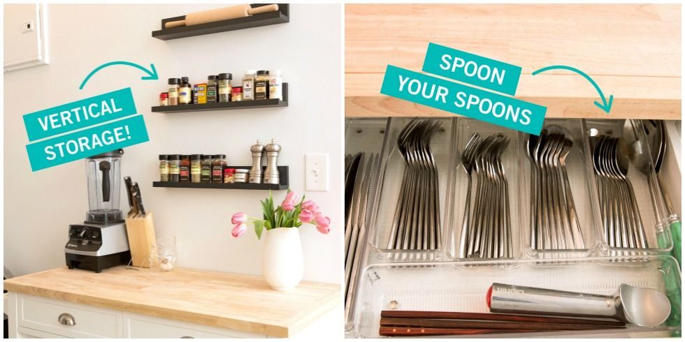 Storage Tricks for a Tiny Kitchen - Small Kitchen Organization on organizing bedroom ideas, organizing a tiny house, organizing a small bathroom ideas,