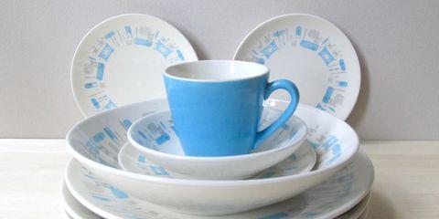 Cup, Blue, Saucer, Dishware, Coffee cup, Cup, Dinnerware set, Teacup, Tableware, Serveware,