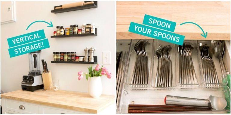 small kitchen organization & Storage Tricks for a Tiny Kitchen - Small Kitchen Organization
