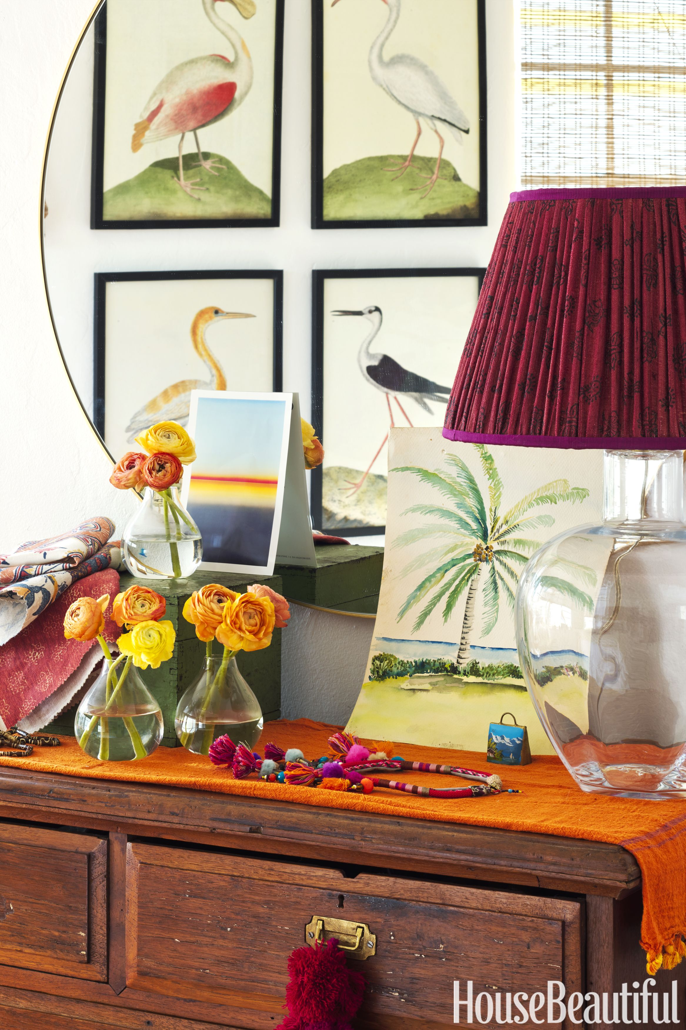 Boho apartment in miami beach schuyler sampertons colorful style