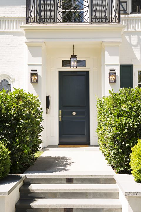 16 best front door paint colors beautiful paint ideas - What color door goes with gray house ...