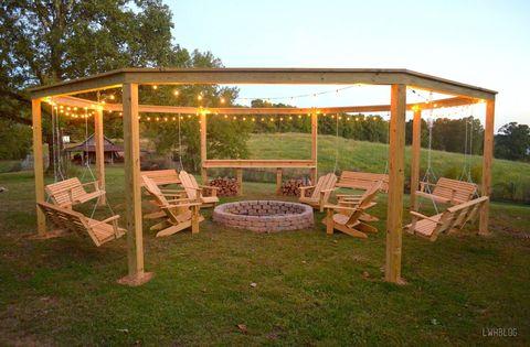 Pavilion, Canopy, Gazebo, Shade, Furniture, Pergola, Outdoor structure, Swing, Building,
