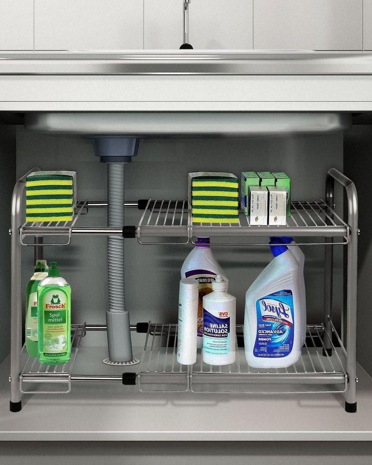 Kitchen Storage Under Sink Organizer: Kitchen Sink Organizing Products