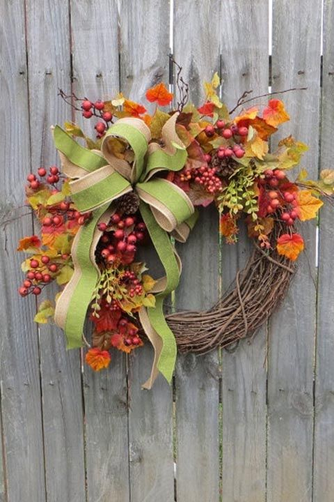 30 Best Diy Fall Wreaths Prettiest Autumn Door Wreaths