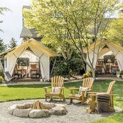 fire pit steve hoedemaker and tim pfeiffer sleeping tents