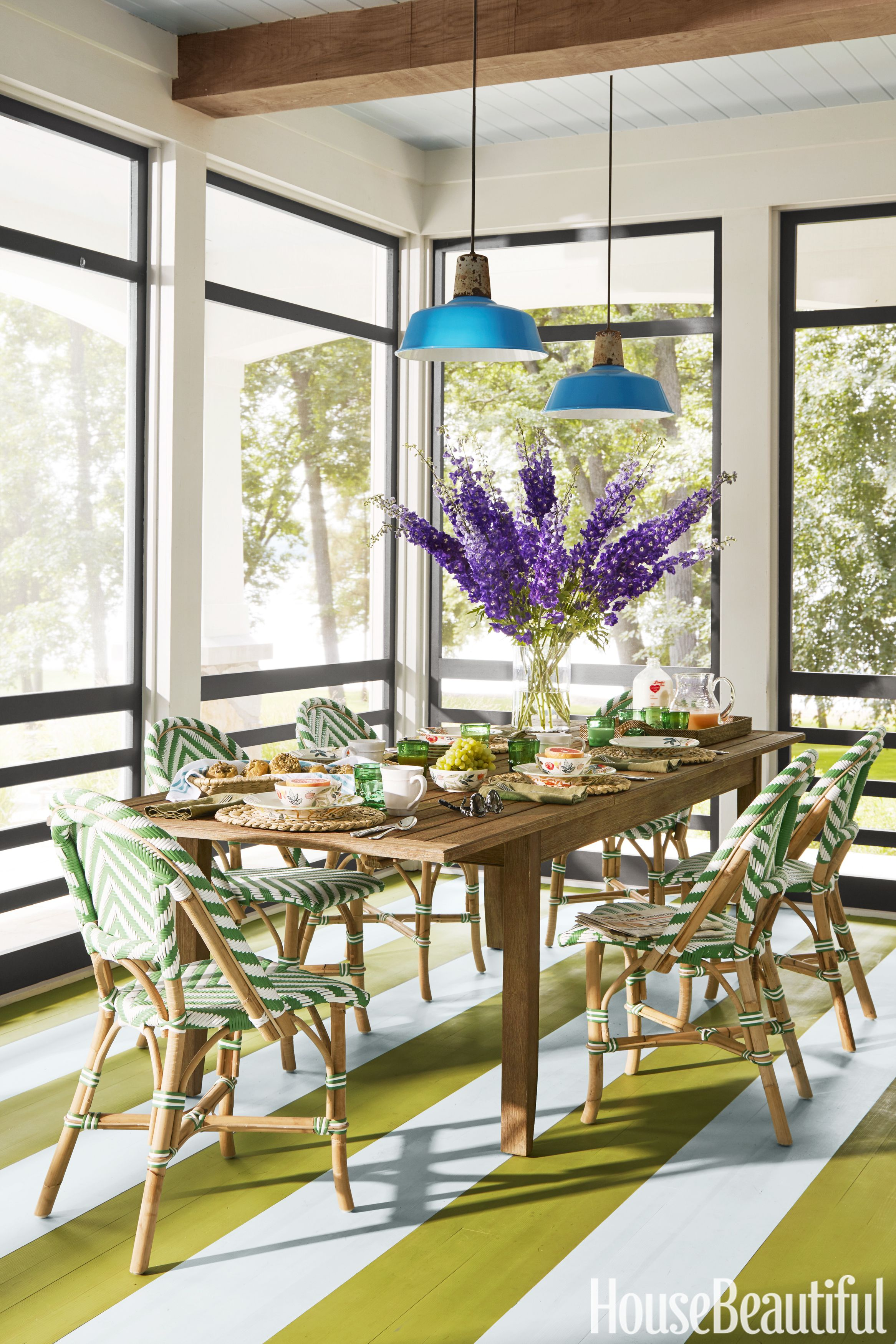 Pay.housebeautiful.com Glamorous Wisconsin Lake House  Summer Thornton Designs A Colorful Vacation Inspiration