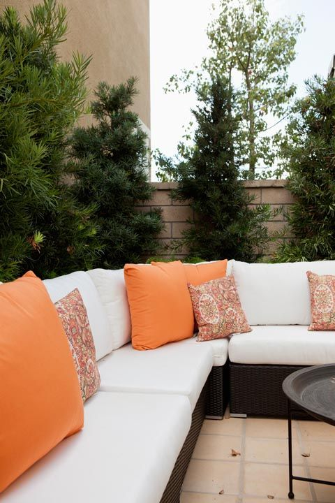 tangerine patio decor