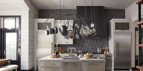 Room, Furniture, Countertop, Cabinetry, Kitchen, Interior design, Property, Building, Ceiling, Floor,
