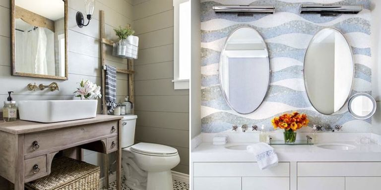small bathrooms. Whether it's a teensy powder room or a shower stall with  barely enough room to scrub, an awkward washroom can really cramp your  style.