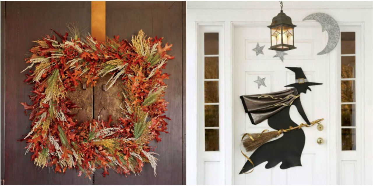 halloween wreaths & 25 DIY Halloween Wreaths - Halloween Door Decoration Ideas