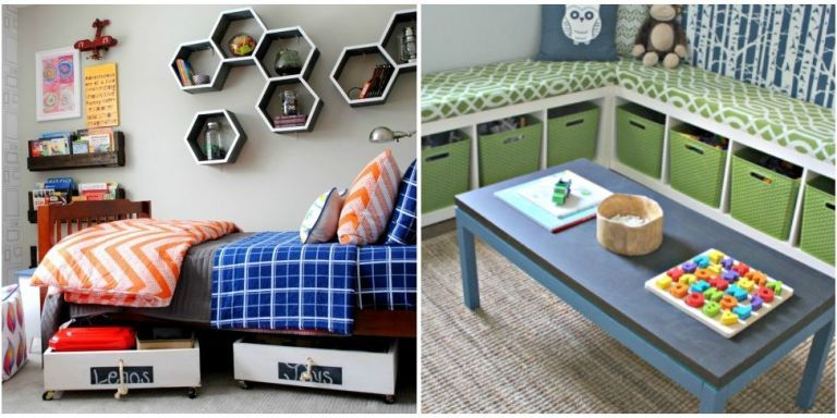 14 genius toy storage ideas for your kid's room - diy kids bedroom