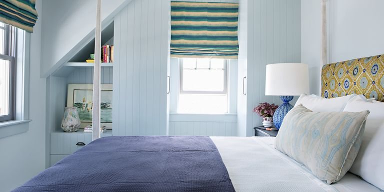 joe lucas blue guest bedroom - Cozy Bedroom Design