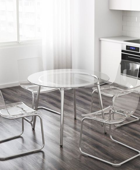 Glass IKEA Table Shatters - IKEA SALMI Glass Table Shattered