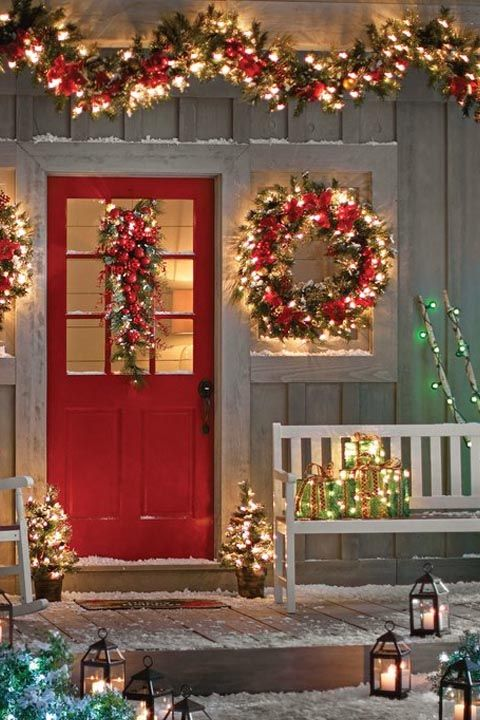christmas decor - Country Christmas Decorations For Front Porch