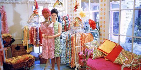 Decoration, Yellow, Room, Boutique, Textile, Dress, Sari, Event, Furniture, Ceremony,