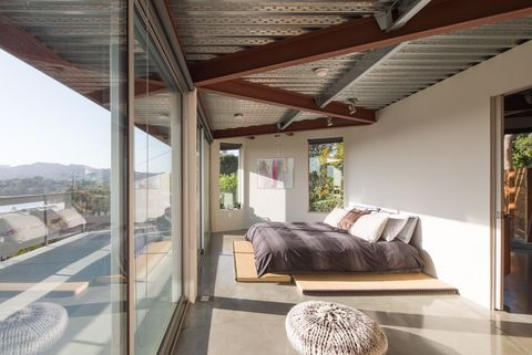 Wood, Architecture, Floor, Property, Room, Interior design, Real estate, Ceiling, Bed, Wall,