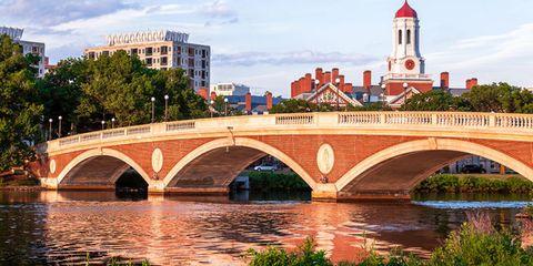 Arch bridge, Bridge, Landmark, River, Waterway, Architecture, City, Reflection, Building, Tree,