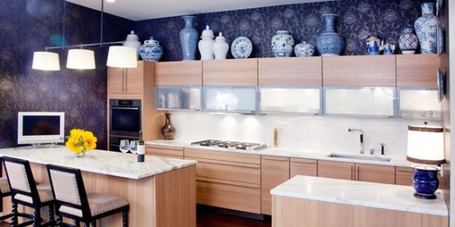 Design Ideas for the Space Above Kitchen Cabinets - Decorating Above on