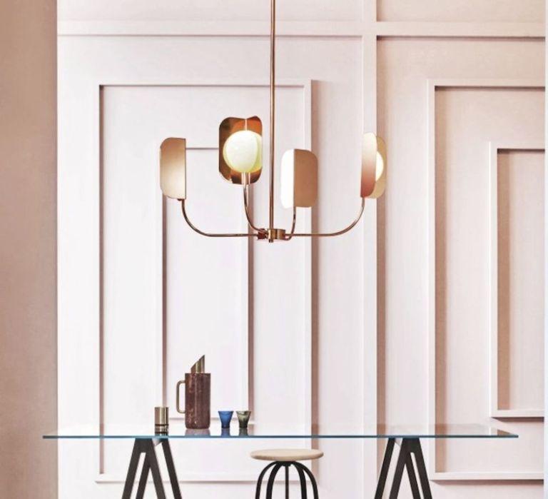 Leaf copper pendant lights
