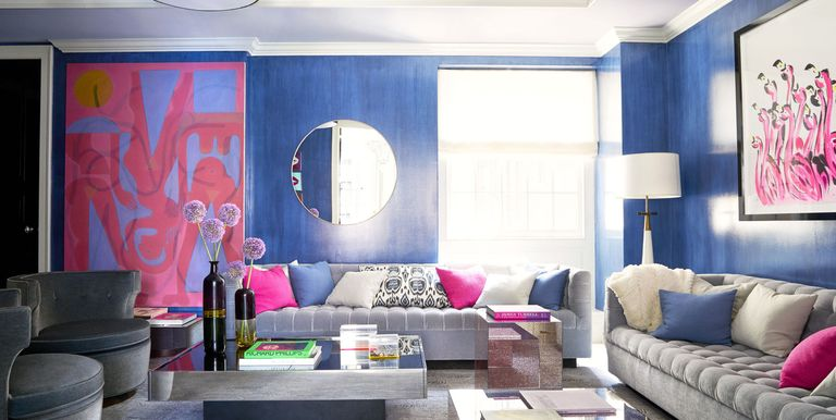 Interesting Living Room Paint Color Ideas: Decor Ideas For Light And Dark Blue Rooms