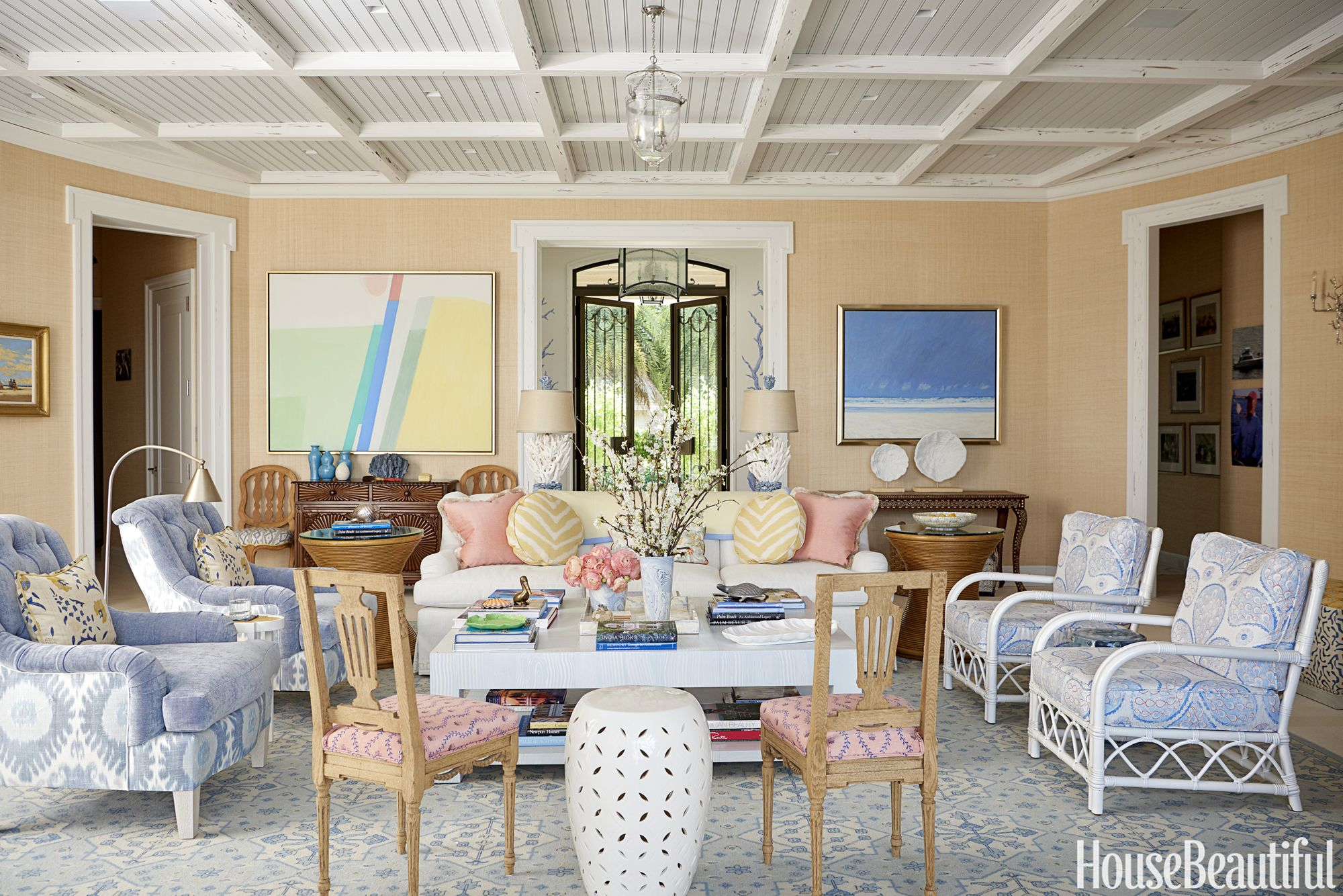 You Have To See The Hand Painted Flamingo Walls In This Florida Home