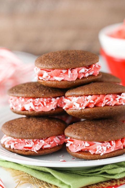 candy cane cookie sandwiches